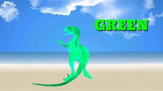 Amazing dinosaurs colors dancing for children, Learn colors with dinosaurs dances for kids