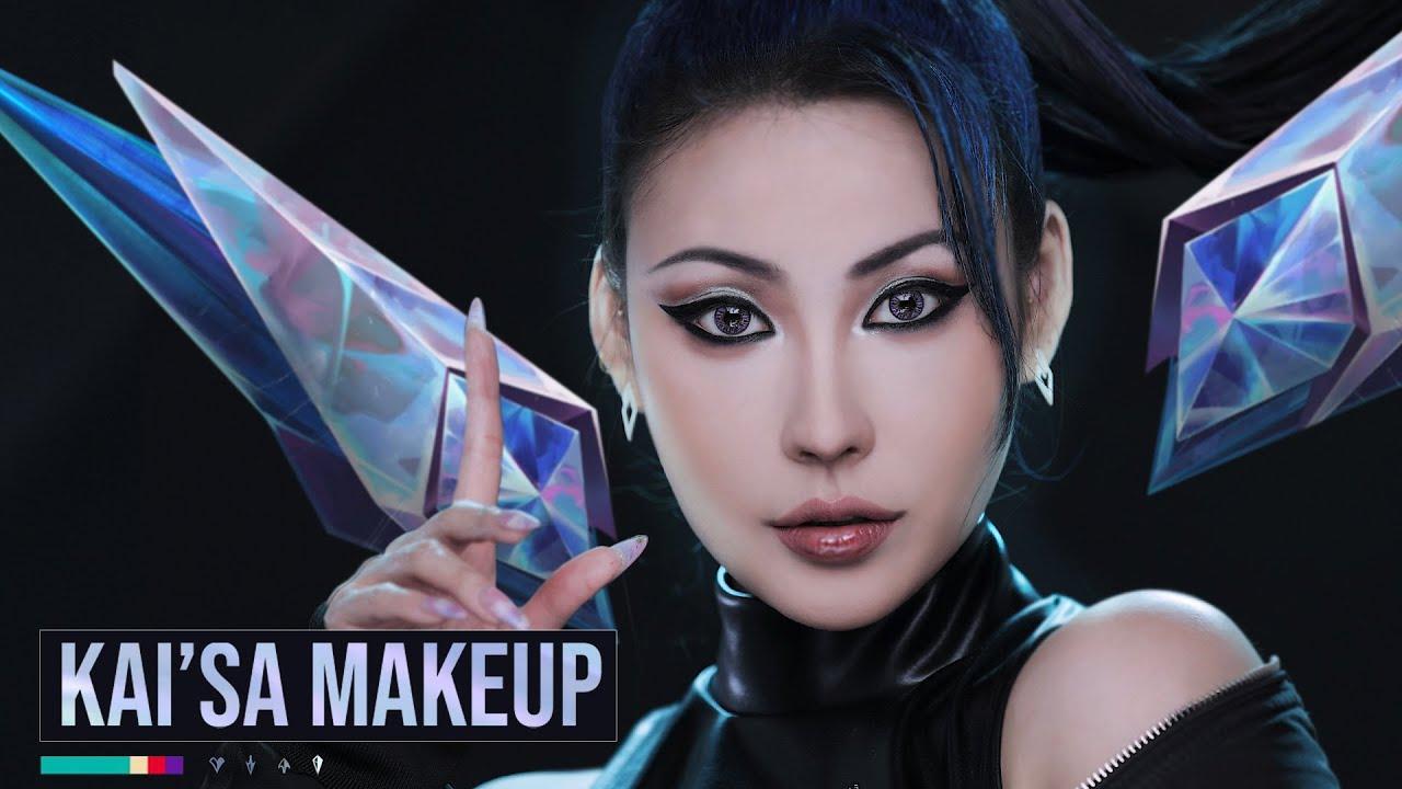 K/DA💎KAI'SA(카이사) 커버 메이크업 Cover Makeup l 이사배(RISABAE Makeup)