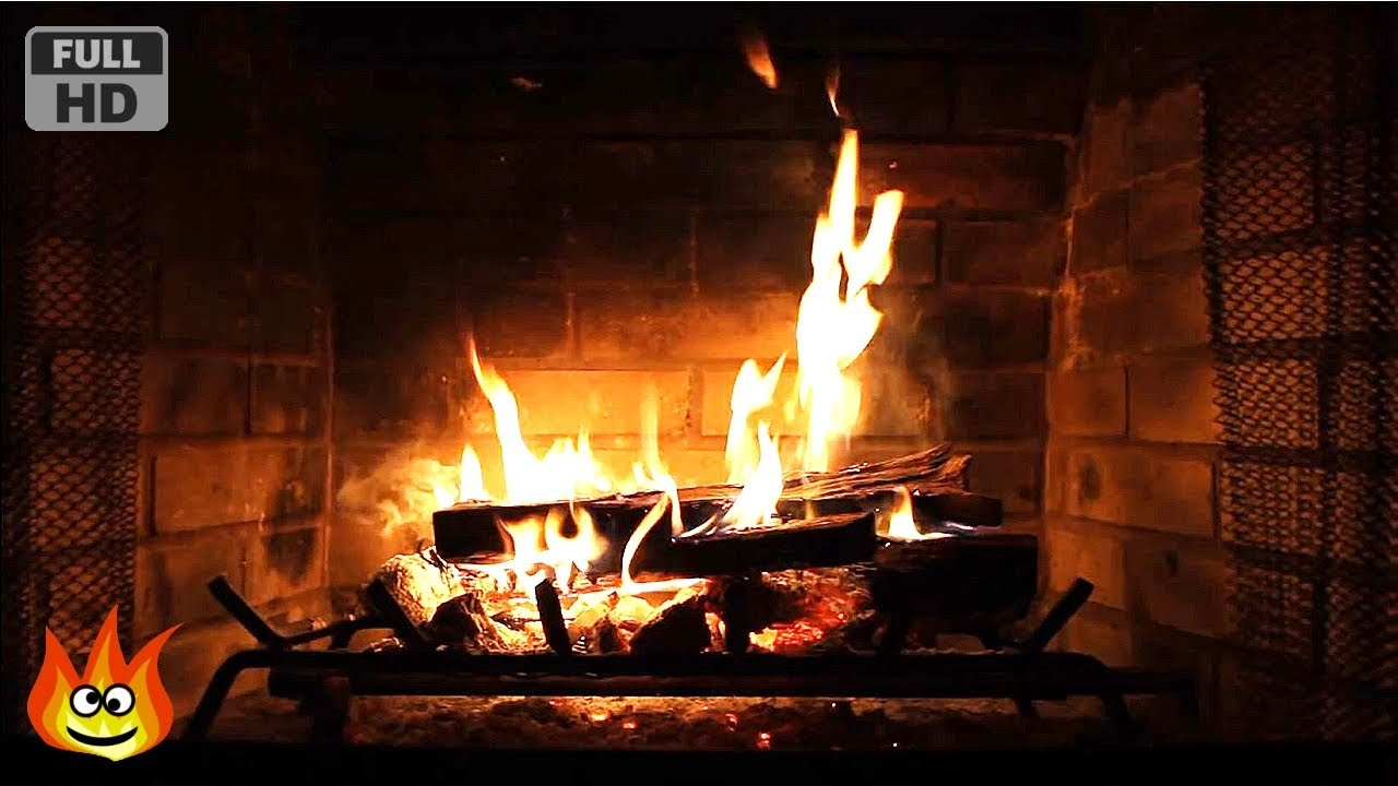 Virtual Fireplace with Crackling Fire Sounds Full HD  YouTube