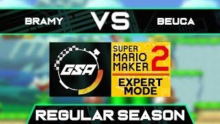BraMy vs Beuca   Regular Season   GSA SMM2 Expert Mode Speedrun League DB Season 3