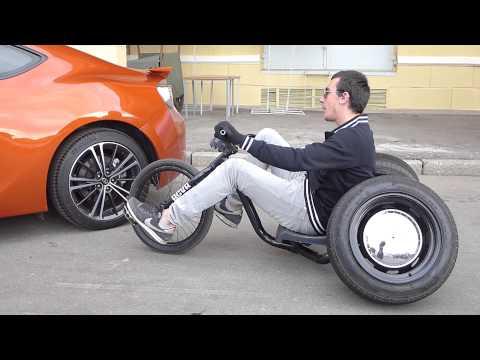 Трех-колесный авто-велосипед с нарушенным развал-схождением (2)
