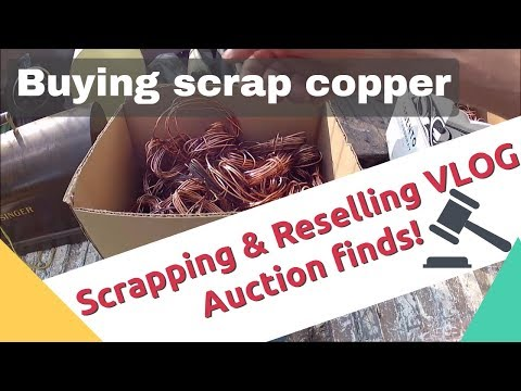 Buying scrap at the auction and other finds. Setting up a NEW drop off recycling bin. HVAC scrap!