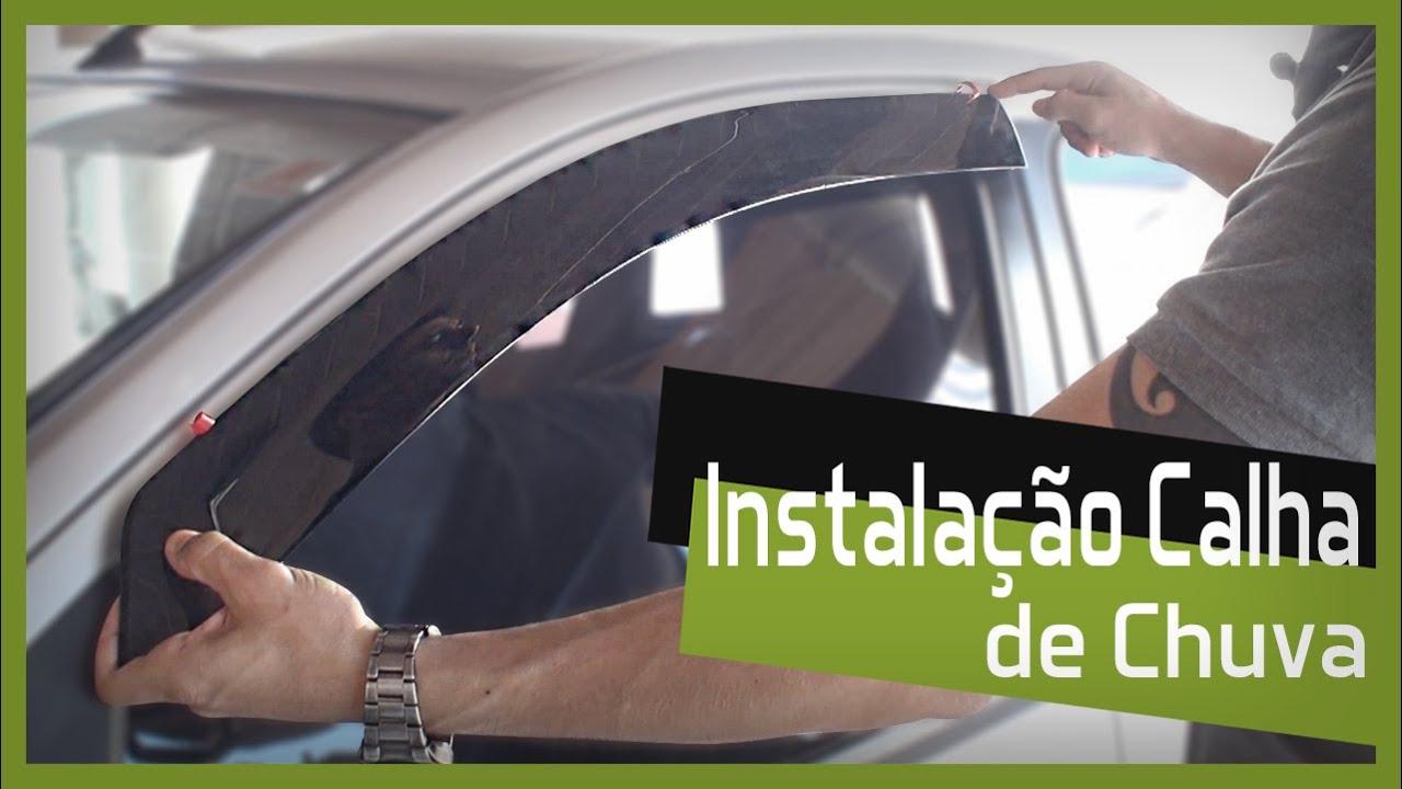 Ford Fiesta Sedan >> Como fazer a Instalação da calha de chuva - Faça Você Mesmo - DIY - YouTube