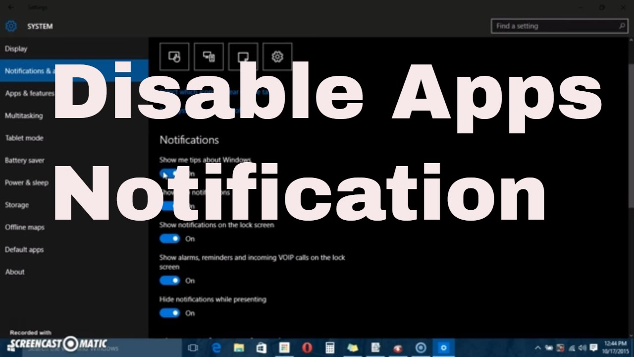 Windows 10 :How to Disable Notifications pop-up of apps or systems  #computerrepair #computerrepair