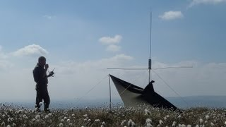 On the moors with cb and pmr radio.