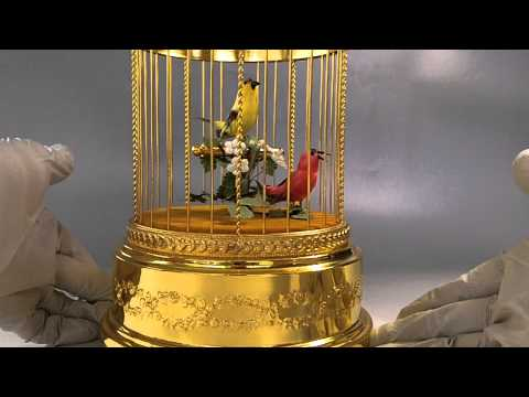 Reuge Singing Bird Cage Music Box Automaton