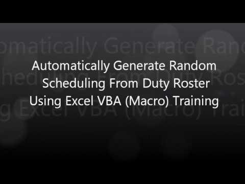 random schedule generator excel