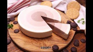 超療癒巧克力漸層乳酪蛋糕∣ 免烤箱甜點萬歲 ∣ 【COOKY免烤箱甜點】Chocolate Ripple Cheesecake