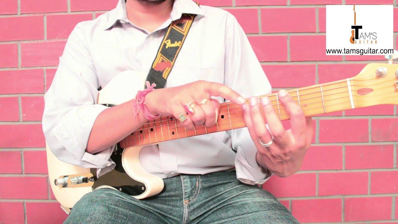 Tu Chahiye (Bajrangi Bhaijaan) intro power chord riff guitar lesson (www.tamsguitar.com) - YouTube