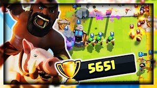 NUMBER ONE DECK WINS 5000 TROPHIES In Clash Royale!