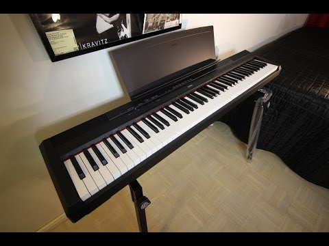 yamaha p115 portable piano unboxing doovi. Black Bedroom Furniture Sets. Home Design Ideas