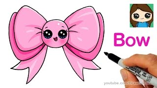 How to Draw a Cute Bow Easy
