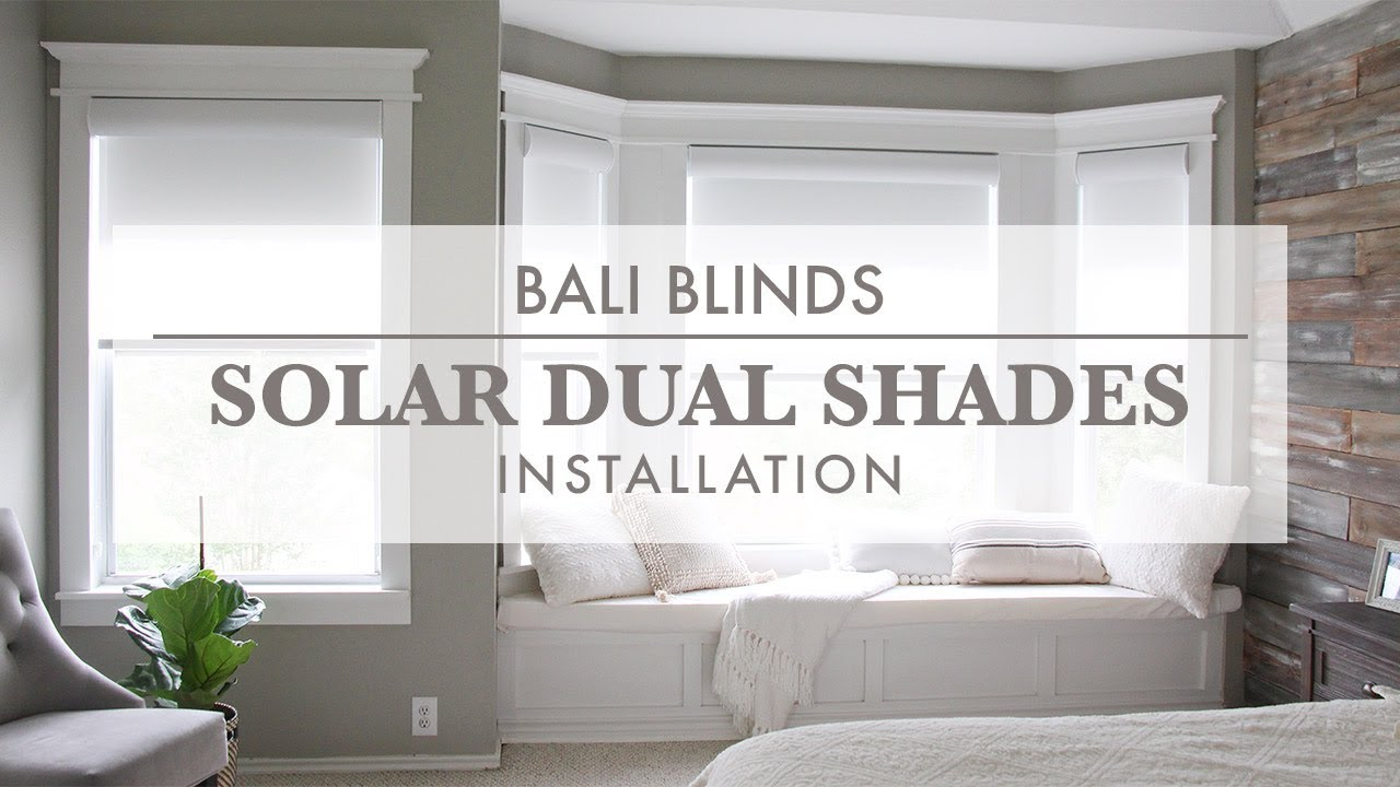 Bali Blinds Solar Dual Shades Installation