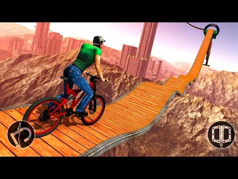 IMPOSSIBLE BMX BICYCLE STUNTS - Android Gameplay - Cycle Games For Kids - Sports Cycle Racing Game