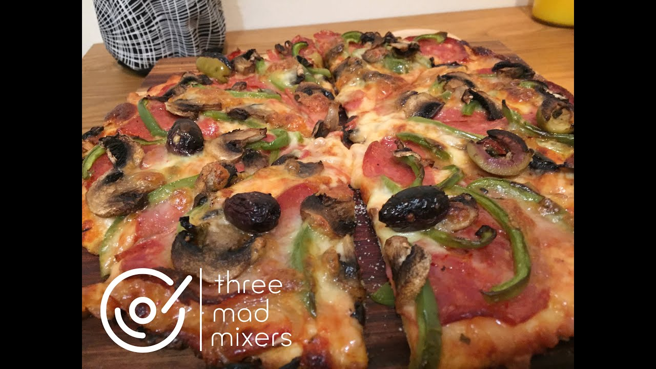 thermomix recipes how to make pizza dough cheese tomato sauce toppings the lot youtube. Black Bedroom Furniture Sets. Home Design Ideas