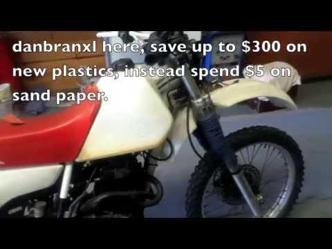 easy how to plastic on motorbike restore