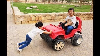 تحدي من أقوى ميادة أو السيارة الحمراء الكبيرة
