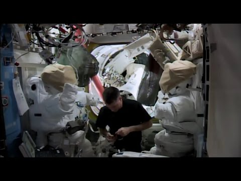 A Day in the Life - ISS Space Suit Maintenance