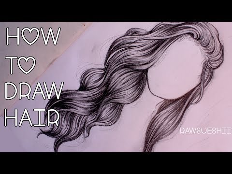 How to Draw Hair   Step by Step by Christina Lorre ♡