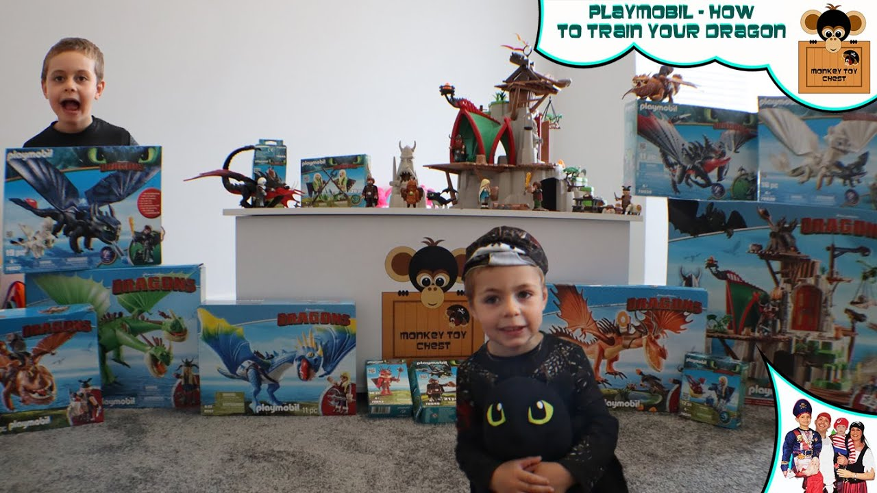 🐉 FINALLY!!! PLAYMOBIL HOW TO TRAIN YOUR DRAGON IS OPEN With Monkey Toy Chest
