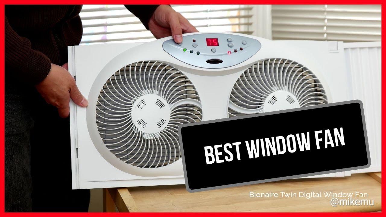 the best window fan bionaire twin window fan with digital thermostat 2019