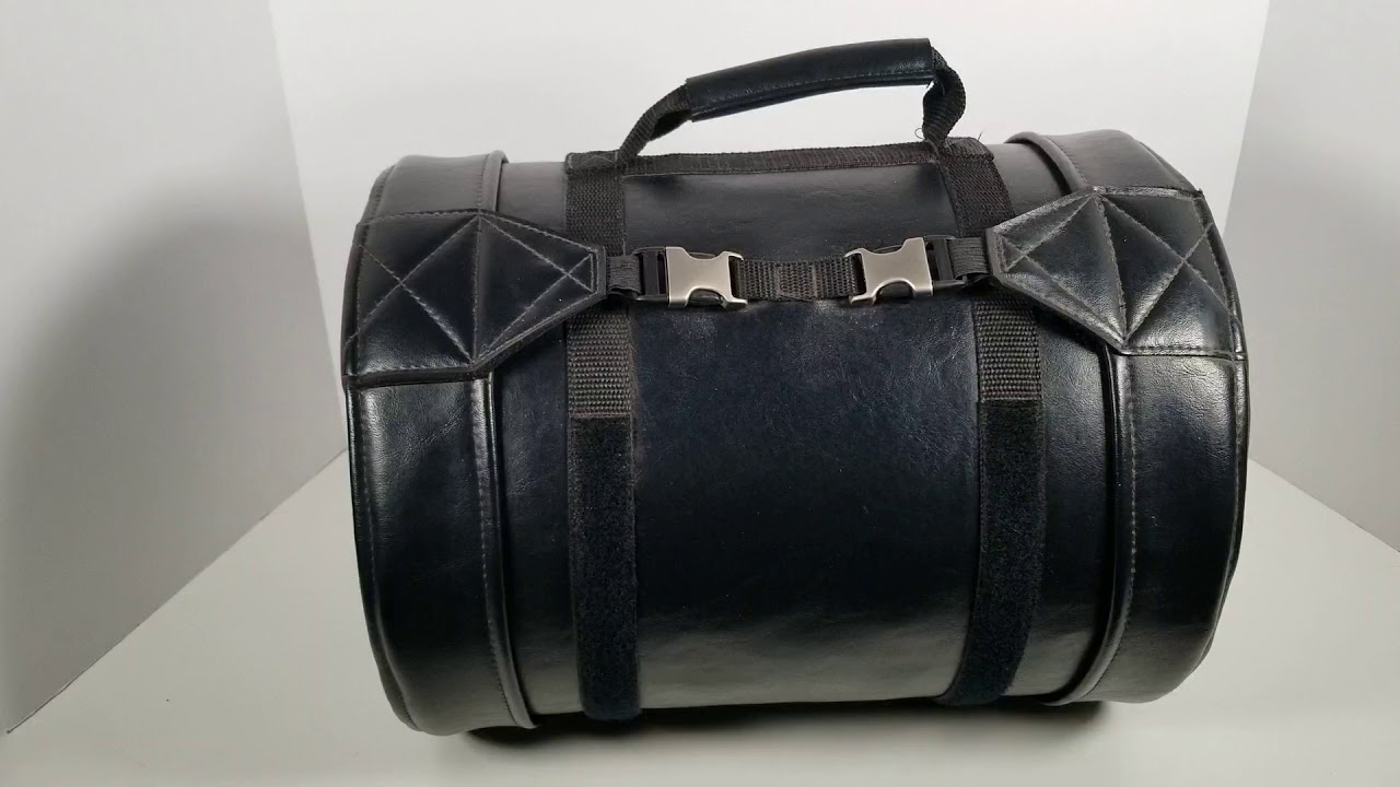 Leather Motorcycle Barrel Bag