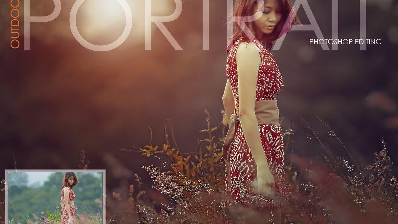 Photoshop tutorial outdoor portrait photoshop edit youtube baditri Image collections