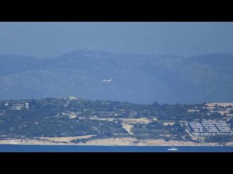 Turkish Coast Guard Casa CN235-100M low flight around Cesme.