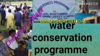 Water Conservation programme /Jal Shakti Abhiyan/ Vlog video/ 2019.