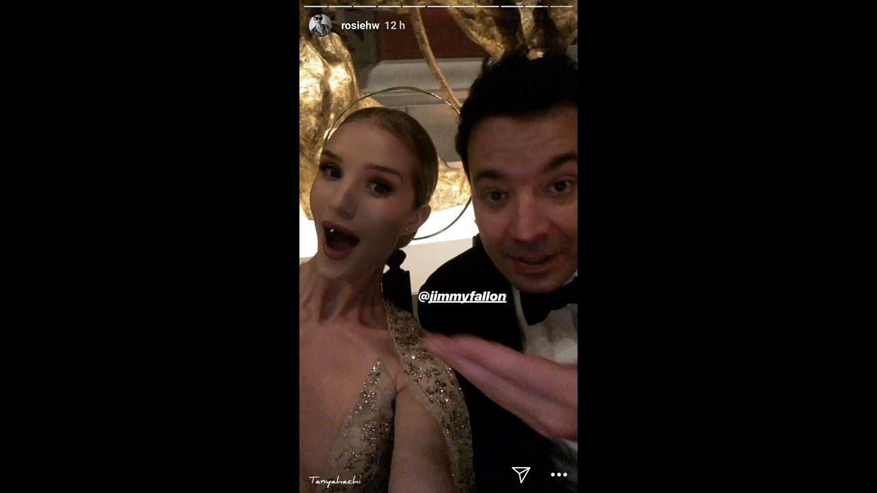 Jimmy Fallon & Rosie Huntington at Met Gala 2018