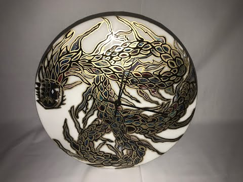 Dragon Art in Resin - Vinyl Recond Art - Part 2 - Adding Details