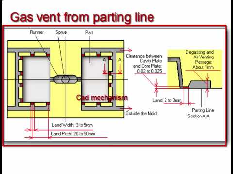 injection molding how to design gas vent youtube
