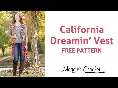 California Dream Vest Free Crochet Pattern - Right Handed