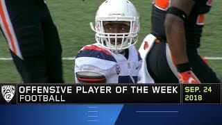 Arizona's J.J. Taylor garners Pac-12 Football Offensive Player of the Week honors