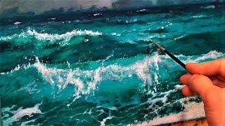 Не умеете писать море? Смотрите этот урок!