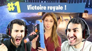 FORTNITE MON PREMIER TOP 1 AVEC ANA ? EPIC REACTION TOP 1 FORTNITE BATTLE ROYALE FR