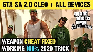 GTA San Andreas 2.0 Download For All Android Devices With Cleo Mods & Cheats | Weapon Cheat Fixed