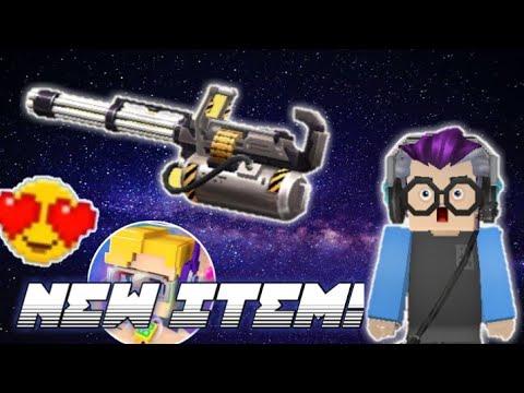 NEW GATLING GUN ITEM! IN SKYBLOCK ( BlockmanGo )