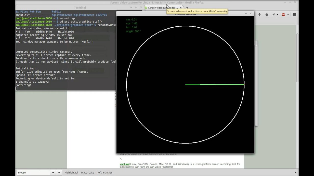 Messing With Pygame and Trigonometry