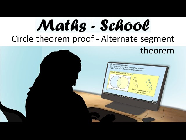 Alternate segment theorem proof. A Circle theorem proof maths gcse revision lesson : Maths-School