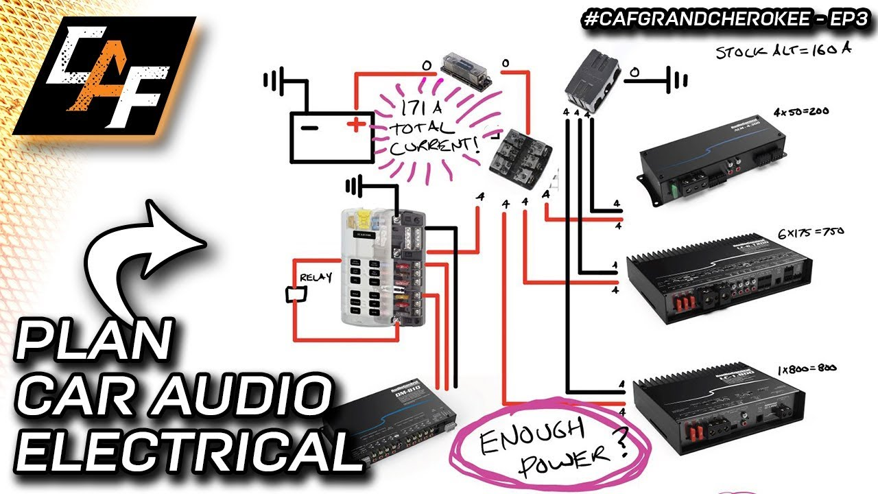 hight resolution of how to plan car audio electrical system wiring is the alternator big enough