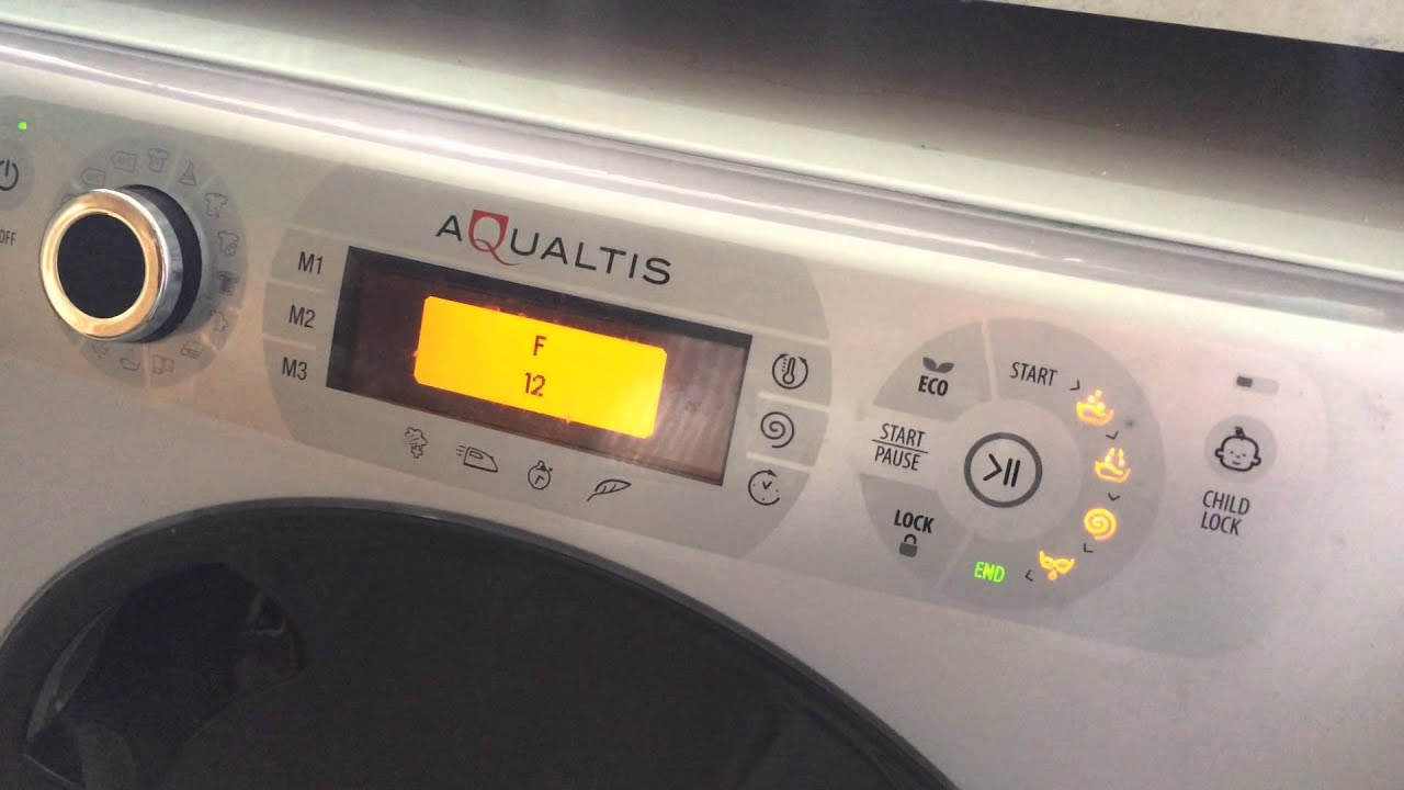 Aqualtis Washing Machine Error LED lights flashing malfunction error