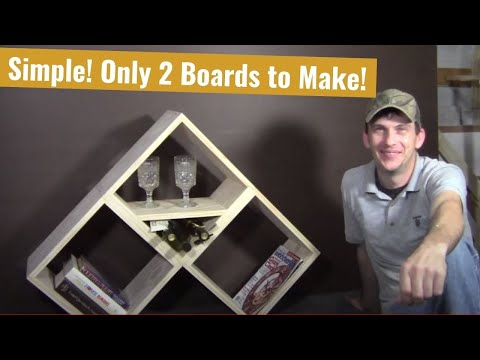 2 Board Modular BookShelf / Wine Rack – Woodworking Basics