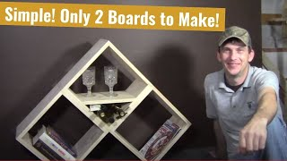 2 Board Modular Bookshelf / Wine Rack - Woodworking Basics