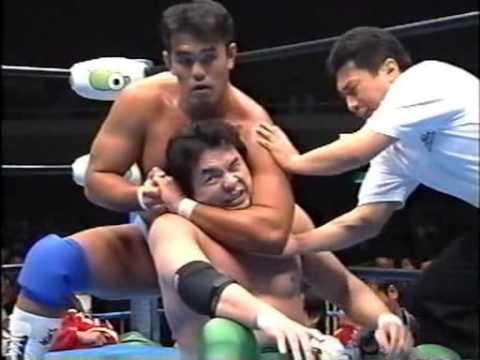 AJPW - Kenta Kobashi & Jun Akiyama vs Mitsuharu Misawa & Yoshinari Ogawa