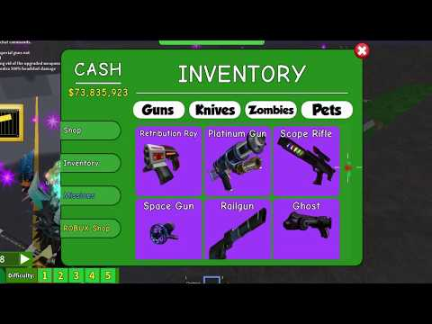 Roblox Zombie Attack Alien Weapons Roblox Zombie Attack New Gun Update Youtube