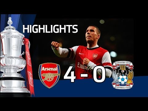 Arsenal vs Coventry City 4-0, FA Cup Fourth Round Proper 2013-14 highlights