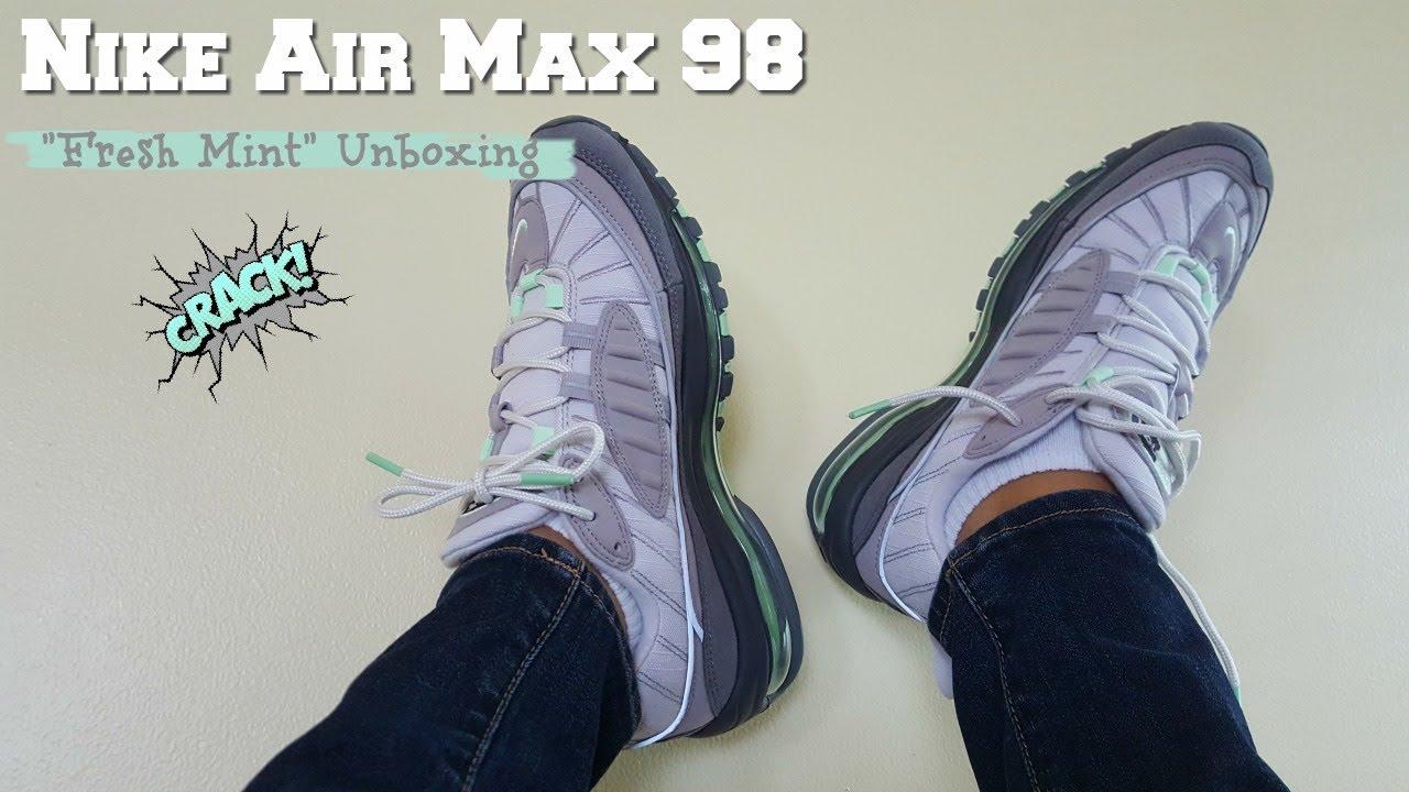 Air Max 98 Fresh Mint Unboxing