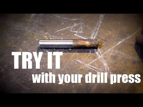 Thinking Outside the Box: Turning Metal on a Drill Press