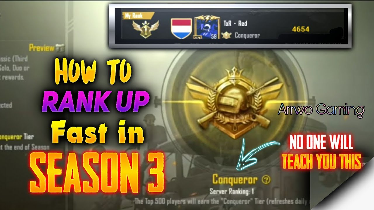 Pubg Mobile How To Rank Up Fast In Season 3 No One Will Teach